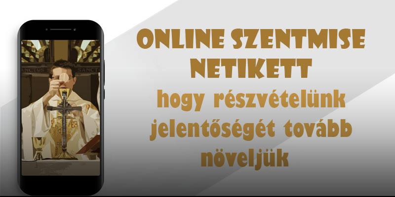 Online szentmise netikett